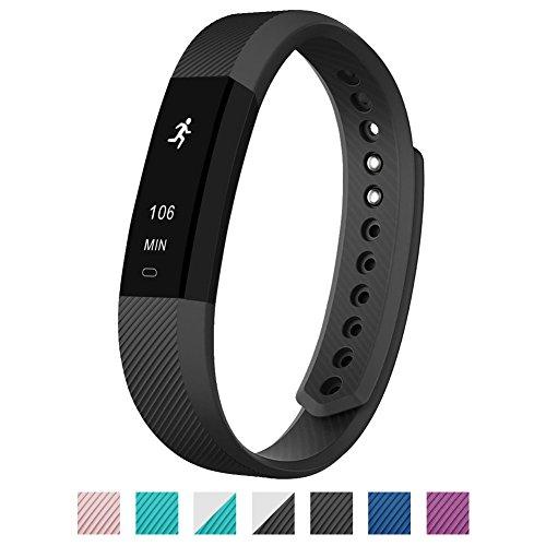 Surwin Alta Fitness Armband Aktivitätstracker für Android und IOS Smartphone (Schwarz)