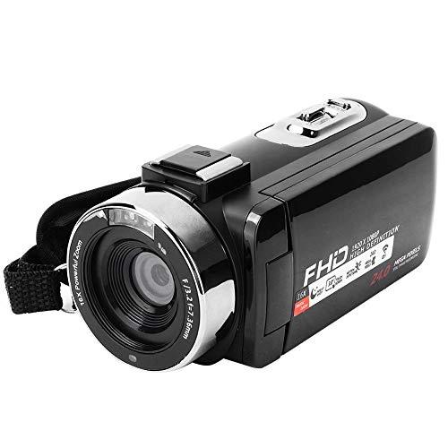 Videocámara 1080P, videocámara con Zoom Digital WiFi 16X con Pantalla táctil de 3 Pulgadas con Control Remoto y Bolsa de cámara para Amantes de la fotografía(#3)
