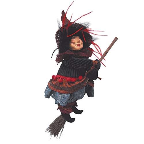 Hexen von Pendle–Anne Redfearn Hexe fliegend (braun) 24cm