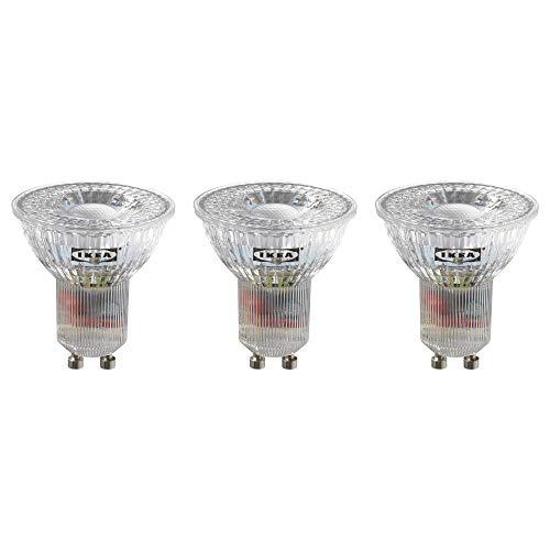 IKEA RYET LED-lampen, GU10, 200 lm, verpakking van 3 stuks [Energy Effency Class A ++] Zilver.