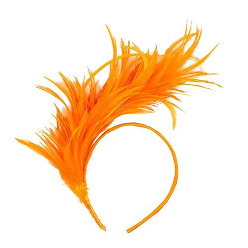 Elegante Fascia Per Capelli Vintage Fantasia Burlesque Flapper Flapper Ostrich Feather Trucco Neonata