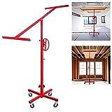 Sollevatore professionale per pannelli in cartongesso, per montaggio a parete e soffitto, pieghevole, in ferro, portata 40 kg