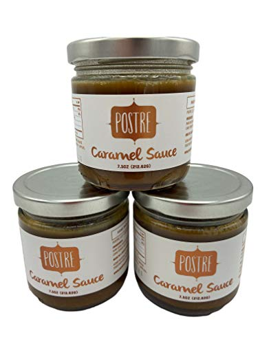 Postre Sea Salt Caramel Sauce – Proudly hand-crafted by two chefs, Rich, Buttery, Classic Caramel Dessert Topping – Three 7.5oz Jars