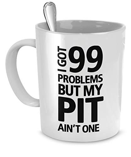 N\A Pitbull-Becher - Ich Habe 99 Probleme, Aber Meine Grube ist Nicht eins - Pitbull-Geschenke - Pitbull-Tasse - Pitbull-Kaffeetasse