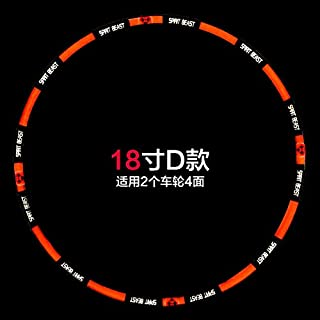Motorcycle Tire Wheel Stickers 10 12 18 Inch for Honda Ktm Yamaha Suzuki Benelli Aprilla Bmw Harely Motorbike Bike (18 inch)