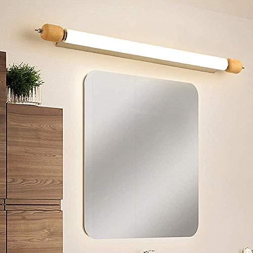 Led-spiegel voorlicht, make-up licht, eiken, waterdicht en anti-condens voor badkamer, make-uptafel, L