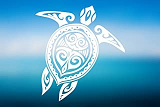 Turtle Tribal Tattoo Style Hawaii Tropical - Vinyl Decal - Car Truck Laptop - SELECT SIZE
