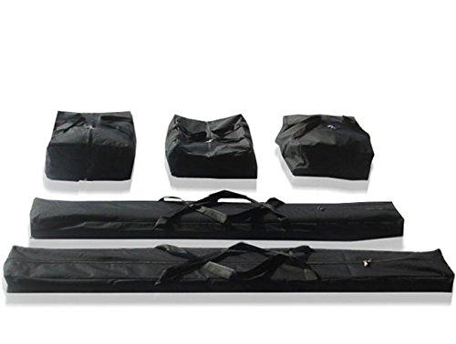 TOOLPORT Taschenset -Taschen Zelt- Gestängetaschen 4 m für Premium Zelte für Pavillon Partyzelt - 5 Stück Tragetaschen Transporttaschen