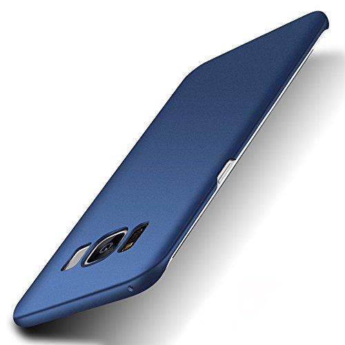 pzx Samsung Galaxy S8 plus ケース 全面保護 指紋防止 3層メッキ加工 シリコン塗装技術 耐衝撃 PC素材 保護カバー (Galaxy S8 plus, ネイビー)