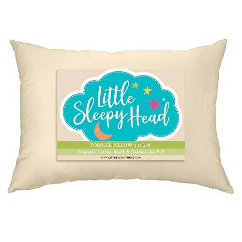 Little Sleepy Head Toddler Pillow, Organic Cotton, Down-Like Fill, Ivory 13 X 18