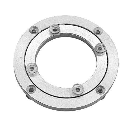 Aluminium Alloy Turntable Bearing Heavy Duty Swivel Turntable Lazy Susan Rotating Bearing Turntable Round Dining Table Smooth Swivel Plate Hardware 4#039#039