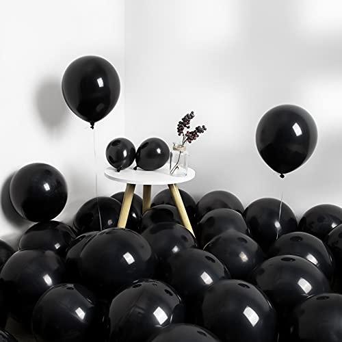 MOMOHOO Black Balloons 12+5 Inch 80Pcs Birthday Party Balloons, Premium Latex Balloons for Black...