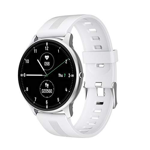 KKZ Reloj Inteligente Impermeable o Reloj Deportivo para Hombres y Fitness para Hombres y Mujeres Reloj Inteligente Monitor de frecuencia cardíaca (para Android iOS),A