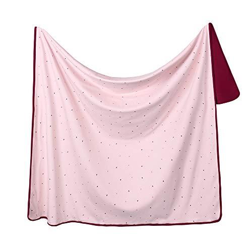 Miracle Baby Manta Bebe Algodón,Manta Coralina Bebe Algodón, Suave y Confortable,Swaddle Wrap Saco de Dormir para Niños110*140(Grande,Astronave)