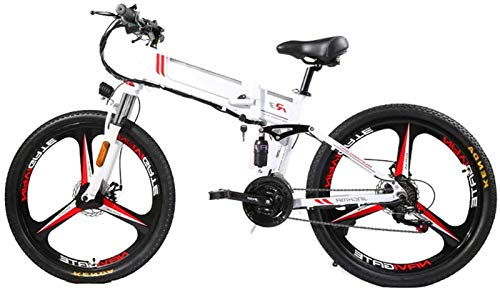 Electric Bike Electric Mountain Bike, Electric Mountain Bike Folding Ebike 350W 21 Speed Magnesium Alloy Rim Folding Bicycle Ultra-Light Hidden Battery-Powered Bicycle Adult Mobility Electric Car for