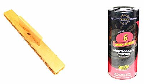 Purchase Sun-Glo Speed #6 Medium Speed Shuffleboard Table Powder Wax (16oz) & SWEEP BUNDLE