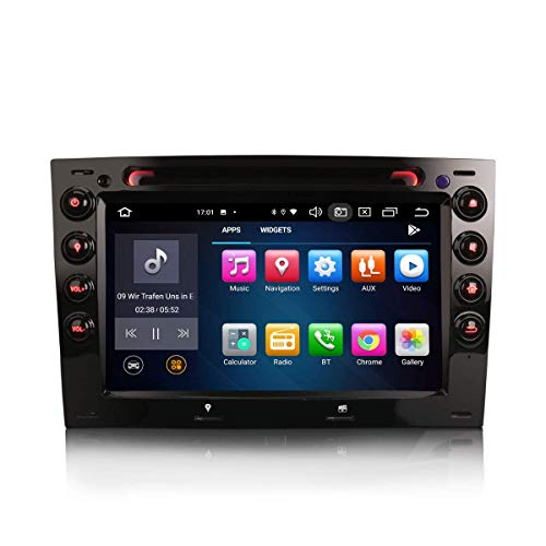 JALAL 7 Pulgadas Android 10.0 Estéreo para automóvil para Renault Megane Soporte GPS Sat Nav Carplay Android Auto DSP Bluetooth WiFi 4G Dab + TPMS 8-Core 4GB RAM + 64GB ROM