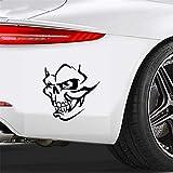 Autocollant Voiture Horreur Autocollant De Voiture Effrayant Démon Visage Crâne Automobiles Accessoires JDM PVC Decal pour Peugeot 307 Passat B5 Lada, 14 cm * 14 cm