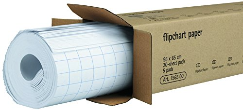 Legamaster 7-156000 Flipchart-Papier, 5 Blöcke mit je 20 Blatt, kariert