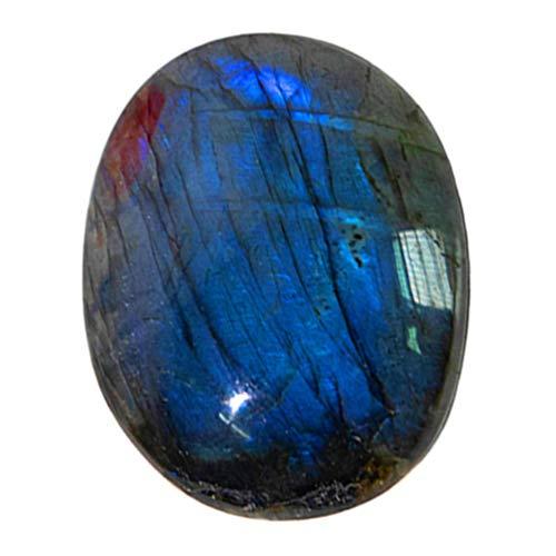 Artibetter Piedra de Cristal Curación Piedra Preciosa de Cristal Pulido Irregular Piedra de Preocupación Natural Piedra de Ornamento para La Mesa de Oficina en Casa Escritorio Azul