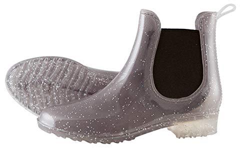 PFIFF 102684 Damen Stiefelette Glitter GlitzerEffekt, Gummistiefel PVC-Stiefel