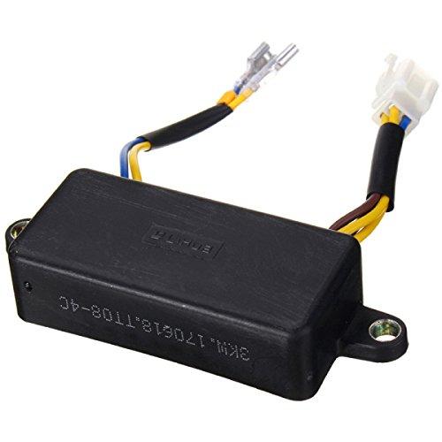 Alamor Regulador De Voltaje Automático Avr Para Generador De Gasolina Monofásico 2-3Kw Negro