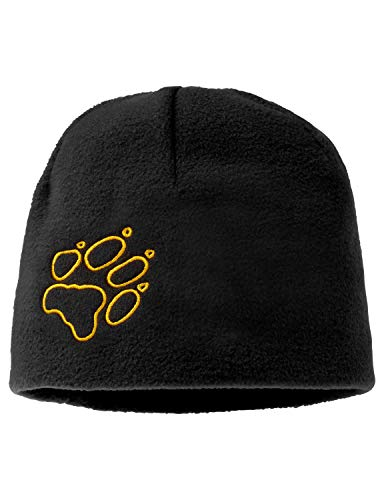 Jack Wolfskin Mütze Kids Fleece Cap, Black, 49-55 cm