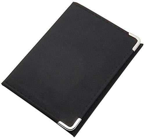 Tarjetero para documento de Identidad y Tarjeta de crédito en 2 Varios diseños en Color de Negro (Modelo 1 / sin Folio)