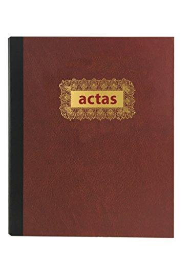 Libro de Actas de Hojas Móviles - Color Burdeos (Modelo 3)