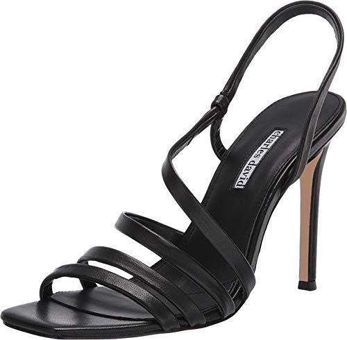 CHARLES DAVID Women's Dress Sandal Pump, Black, 8