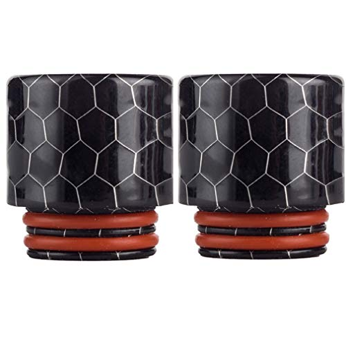 CENGLORY 2PCS Resin Black 810 Connector drip Screws tips Adaptor Wide Bore Accessory