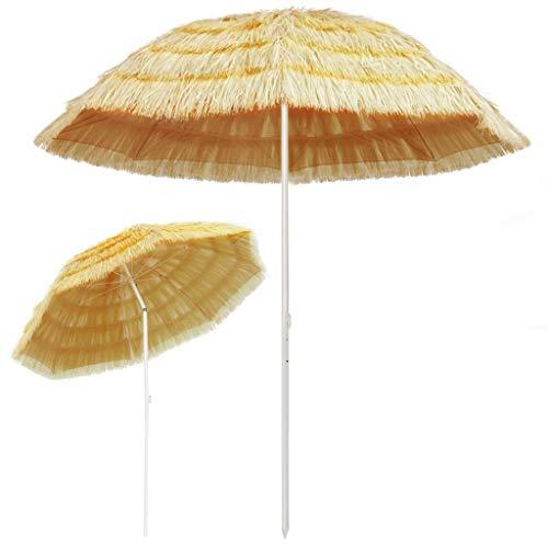Festnight Strandschirm | Sonnenschirm | Balkonschirm | Gartenschirm | Marktschirm | Terrassenschirm Sonnenschutz | Natur Hawaii Style 240 cm