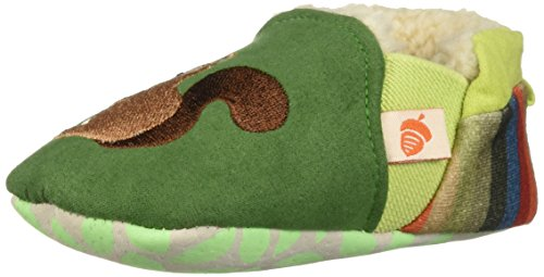 Acorn Baby Easy-On Toddler Moc Slipper, Green Squirrel, X-Large