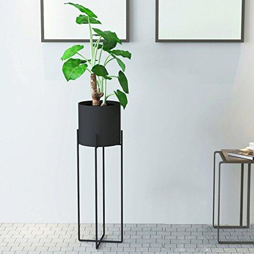 LYQZ Europäische Schmiedeeisen-Blumen-Regal, kreativer Innenboden-stehender Art-Blumen-Stand-einfaches schwarzes Pflanzen-Gestell (Farbe : SCHWARZ, größe : Large)