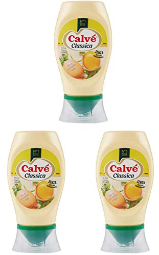 3x Calvé Mayonnaise Squeeze Fritessoße Soße Sauce 250ml mit Eiern aus Nährboden