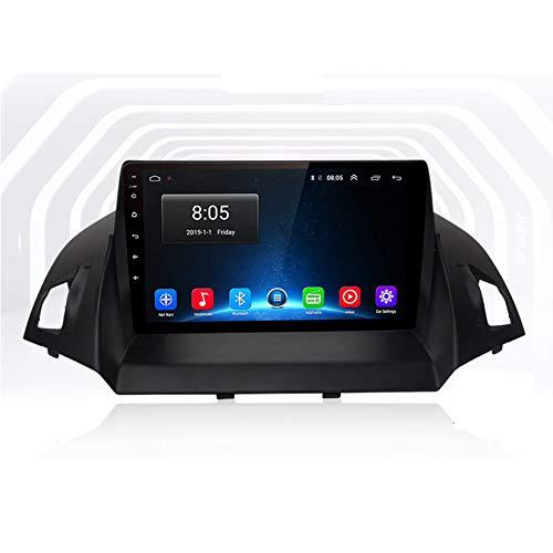 TypeBuilt 9 Zoll IPS Bildschirm USB Sd GPS Tuning Gerät Android 10 Autoradio Radio Für Ford Kuga Escape 2013-2016 Navigationssystem Pkw-Navi DAB+ Digitalradio Bluetooth WLAN,WiFi,1G+16G