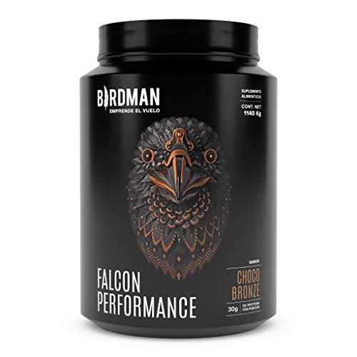 Birdman Falcon Performance Proteina Premium En Polvo, 30gr proteina, 3gr Creatina, 30 Porciones Sabor Choco Bronze 1.14 kg