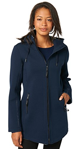 TOM TAILOR Damen bonded jersey jacket Trainingsjacke, Blau (real navy Blue 6593), 36 (Herstellergröße: S)