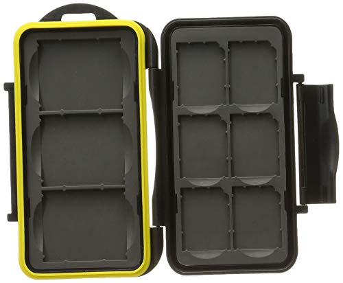 JJC MC-SD6CF3 Rugged Water-Resistant Memory Card Case fits 3X CF / 6X...