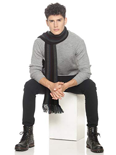 513 Men Acrylic Woolen Casual Winter Wear Verticle Striped Knitted Warm Premium Mufflers Multicolor 3 41WL0dKIgCL. SL500