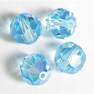 24pcs x Authentic 4mm Swarovski #5601 Round Crystal Beads (Aquamarine AB) #SWA-R410-AB