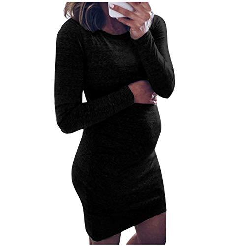 Dasongff Damen Umstandsmode Umstandskleid Umstands Still Sweatshirt-Kleid Umstandsnachthemd Nachthemd Tshirt Kleid