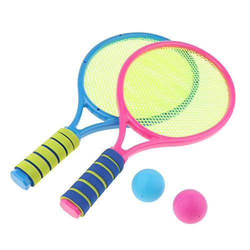 FLAMEER Tennisschläger & Bälle Tennis Set für Kinder Outdoor Sport Spielzeug - B