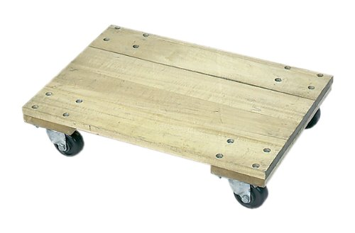 Wesco Industrial Products 272055 Wood Solid Platform Dolly with 3