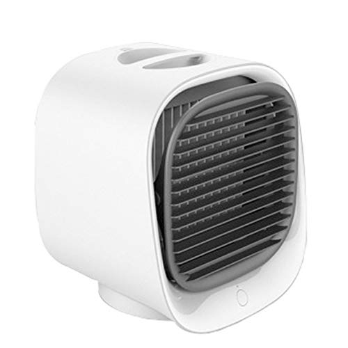 #N/V Mini ventilador de aire acondicionado de escritorio con luz nocturna mini ventilador