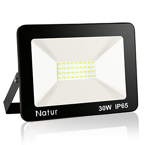 30W Projecteur LED Extérieur IP65 Imperméable spot led exterieur Blanc Chaud(3000k) économiseur d'énergie 100% Sécurité Floodlight pour Cour Terrasse Square Usine[Classe énergétique A++]