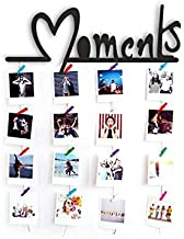 VAH Hanging Photo Display Picture Frame Collage Picture Display Organizer with Wood Clips for Wall Decor Hanging Photos (Moment 1)