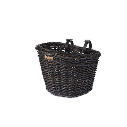 Basil Unisex– Erwachsene Darcy L Fahhradkorb, Black, 41 cm x 35 cm x 34 cm