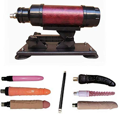 LKJH Automatische Adult Massage-Maschinengewehr for Frauen mit Attachments, Pink (Farbe: Pink) (Color : Dark Red)