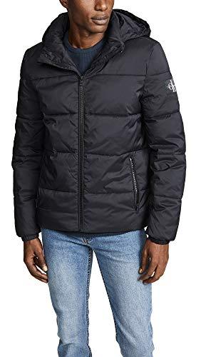 Calvin Klein Men's Coated Puffer Jacket, Black ck, Large